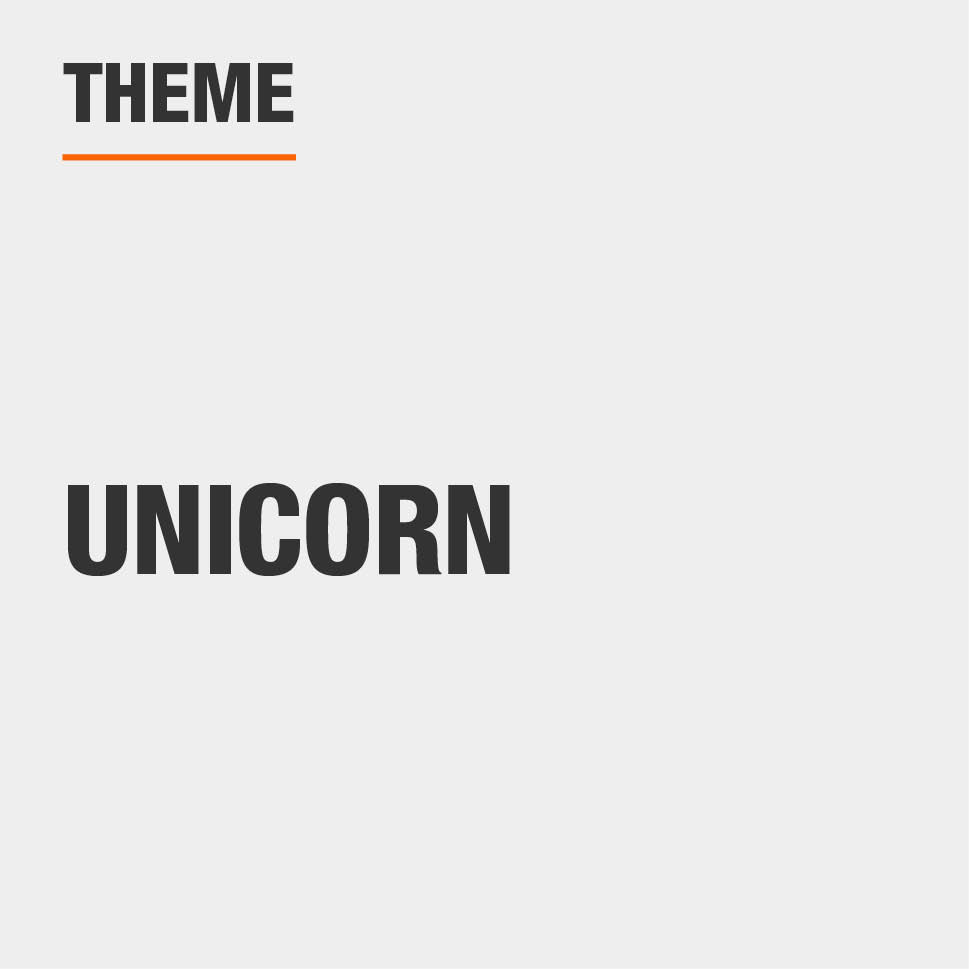 The theme is unicorn