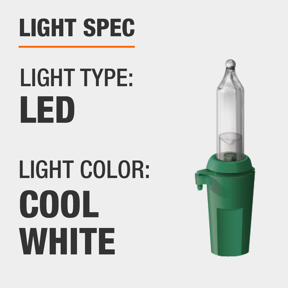 The light type is LED and color is cool white