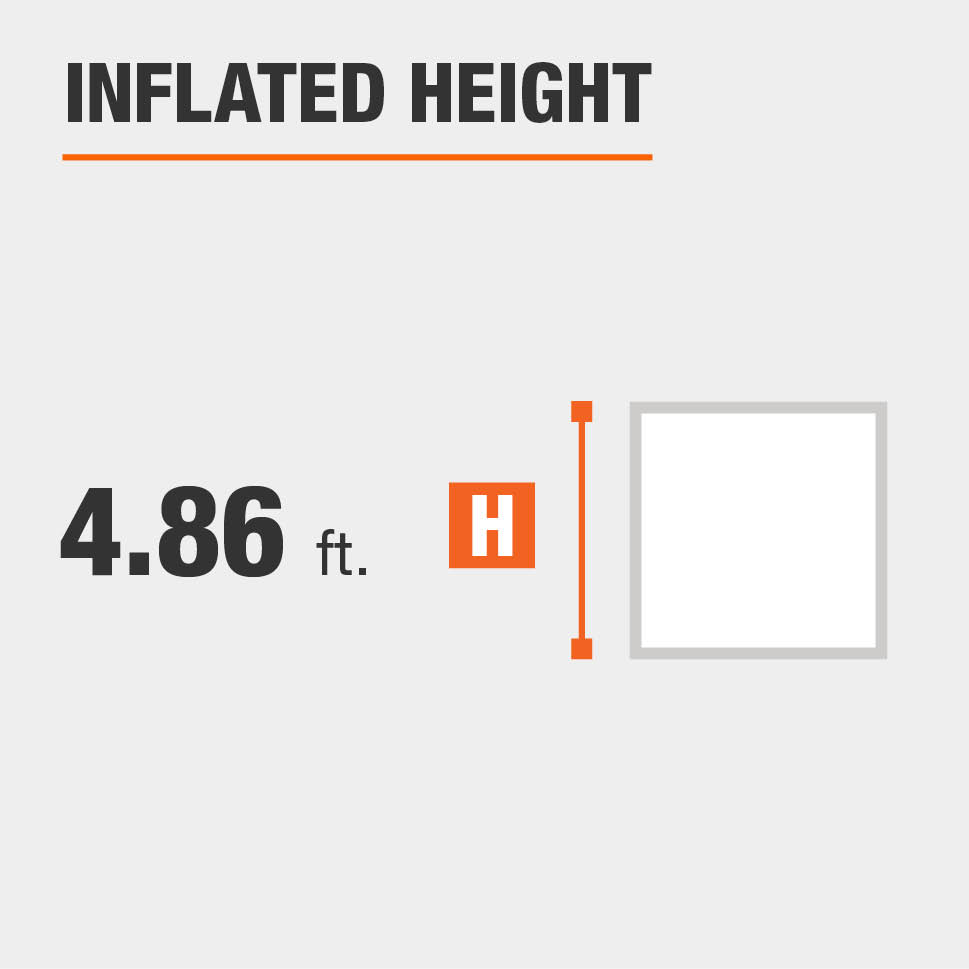 Inflated height is 4.86 feet