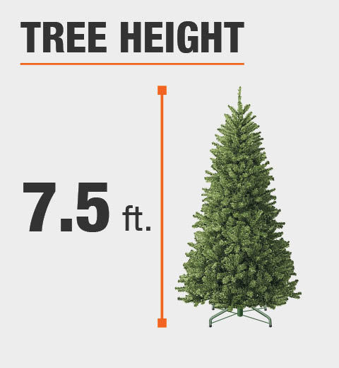 Home Accents Holiday 7.5 ft. Pre-Lit LED Elegant Natural Fir Quick ...
