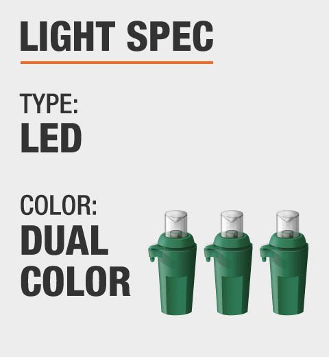 Illuminations 5.5 ft. Color Blast Remote Controlled RGB LED 96-Light ...