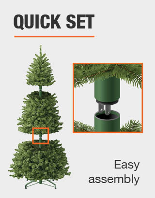 Grow And Stow Christmas Tree.Home Accents Holiday 7 Ft To 9 Ft Pre Lit Led Virginia