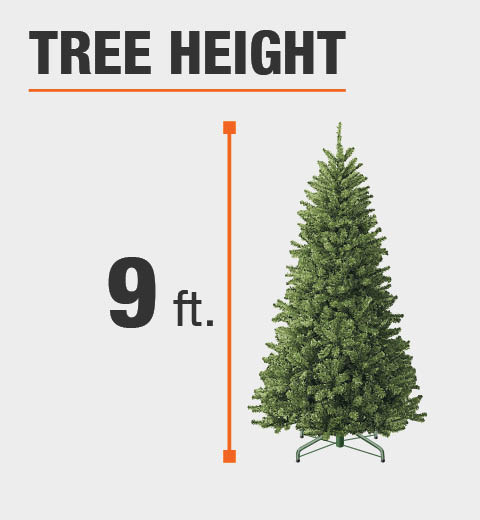 Height of tree is adjustable to suit your needs ... - Home Accents Holiday 7 Ft. To 9 Ft. Pre-Lit LED Virginia Pine Grow