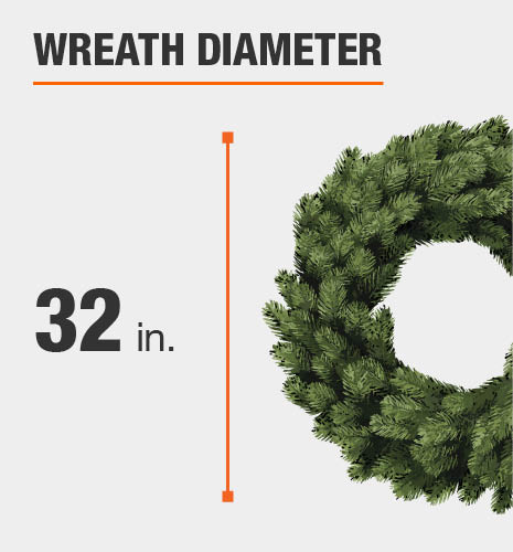 Wreath size is 32 inches