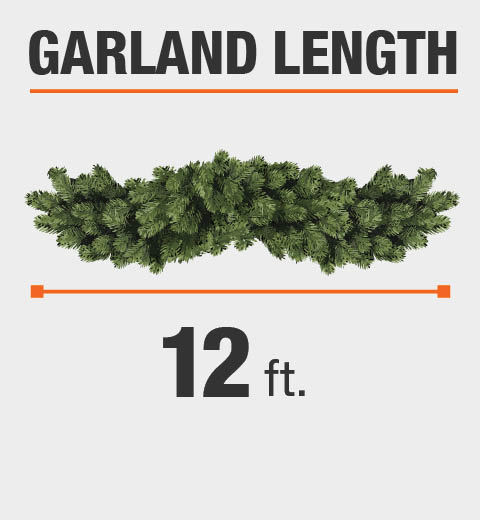 The Garland Length is 12 ft.