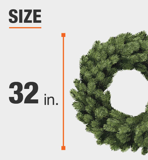 The Wreath Size is 32 in.