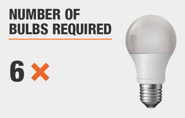 Number of bulbs required: 6