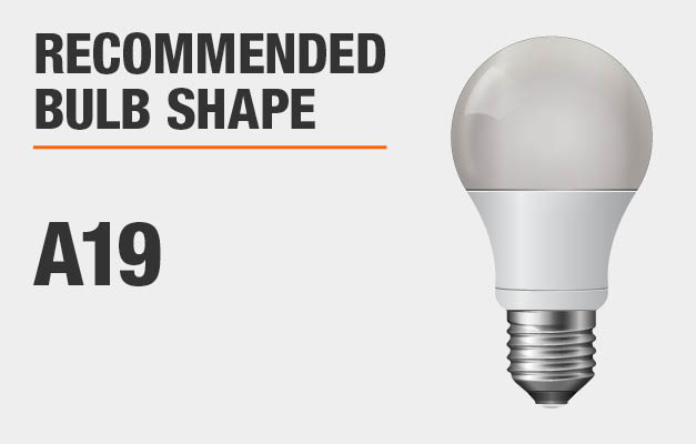Recommended bulb shape: A19