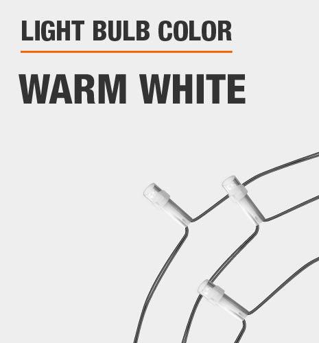 Light bulb color is Warm White