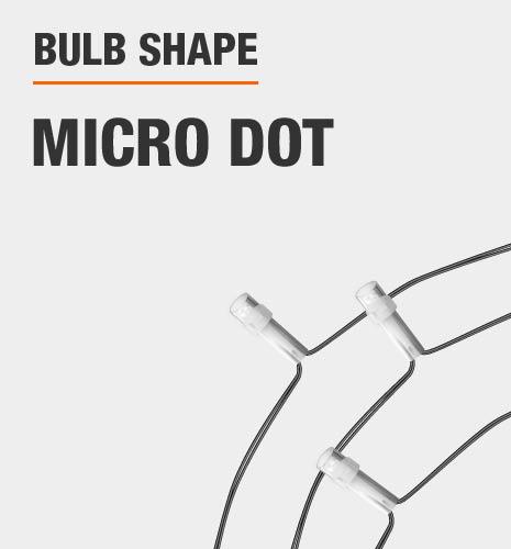 The bulb shape is micro dot