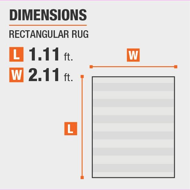 Diamond Maze Grey 1 ft. 11 in. x 2 ft. 11 in. Area Rug is 1.11 feet by 2.11 feet