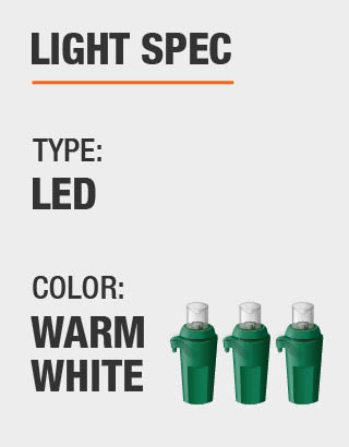 Product Light spec. Light type and bulb color