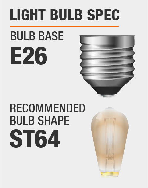 E26 Base ST64 Bulb Recommended