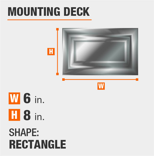 Rectangle Mounting Deck