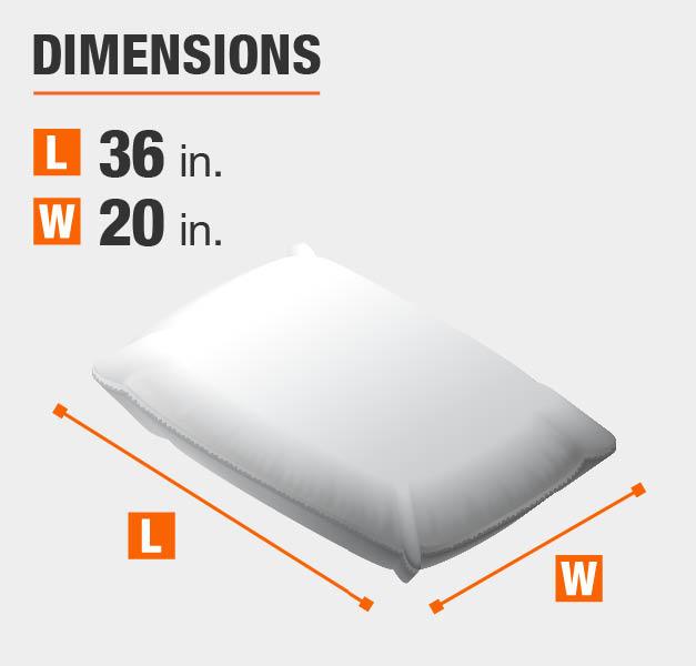 "Dimensions 20""x36"""