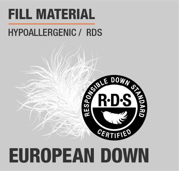 Fill Material European Down Hypoallergenic RDS
