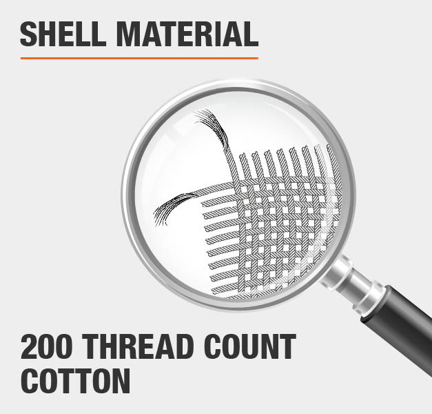 Shell Material 200 Thread Count Cotton