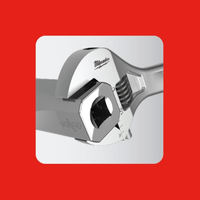 FOUR FLAT™ Sides are wrench compatible