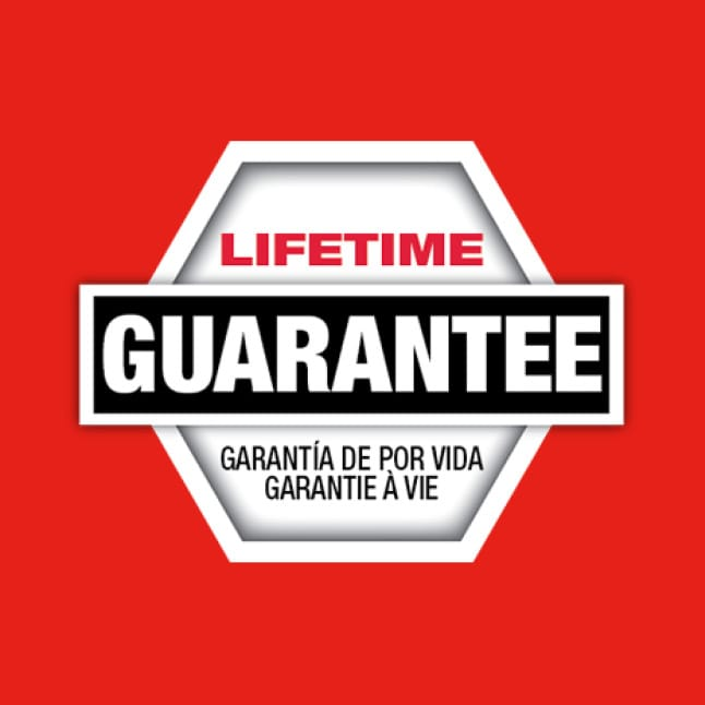 Backed by a Lifetime Guarantee