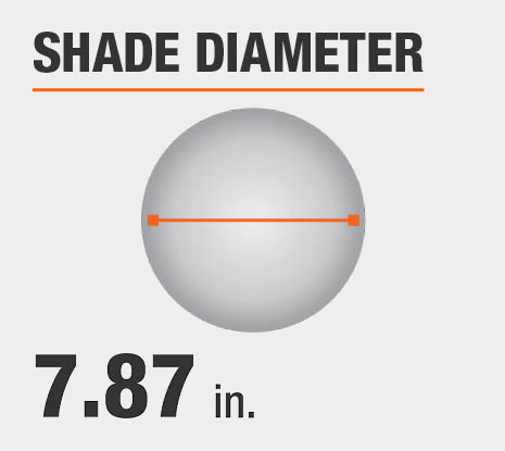 Shade Diameter: 7.87 in.