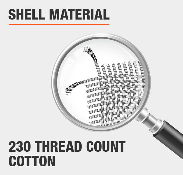 Shell Material 230 Thread Count Cotton