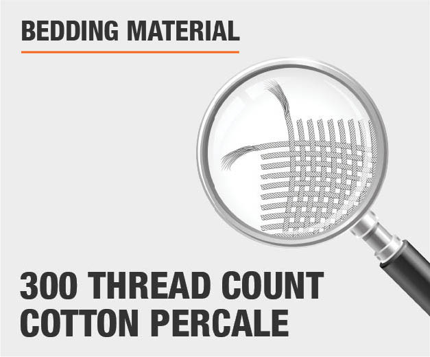 300 Thread Count Cotton Percale