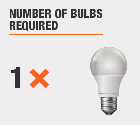 Number of Bulbs Required: 1