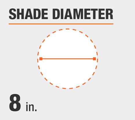 Shade Diameter: 8.00 in.