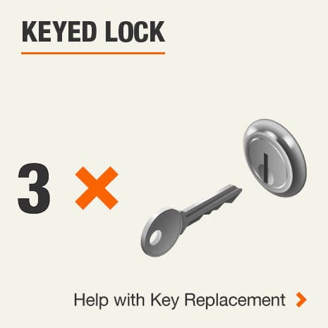 Keyed Lock 1 Key. Click for help with replacement