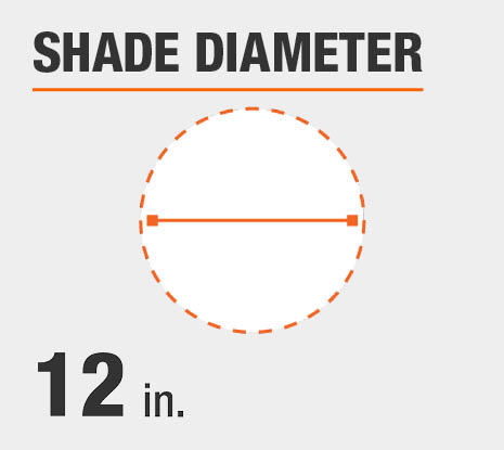 Shade Diameter: 12.00 in.