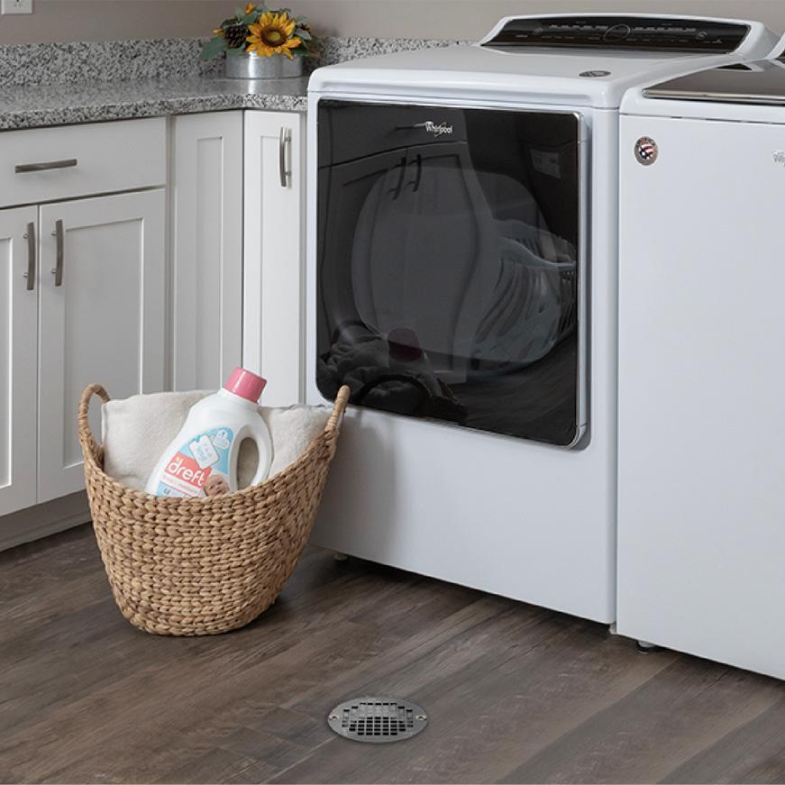 General purpose drain in laundry room floor