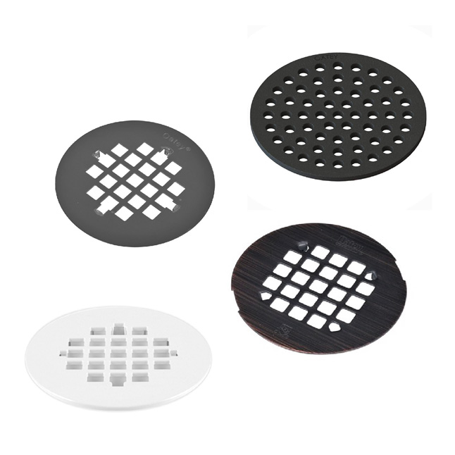 Various different strainer finishes and materials