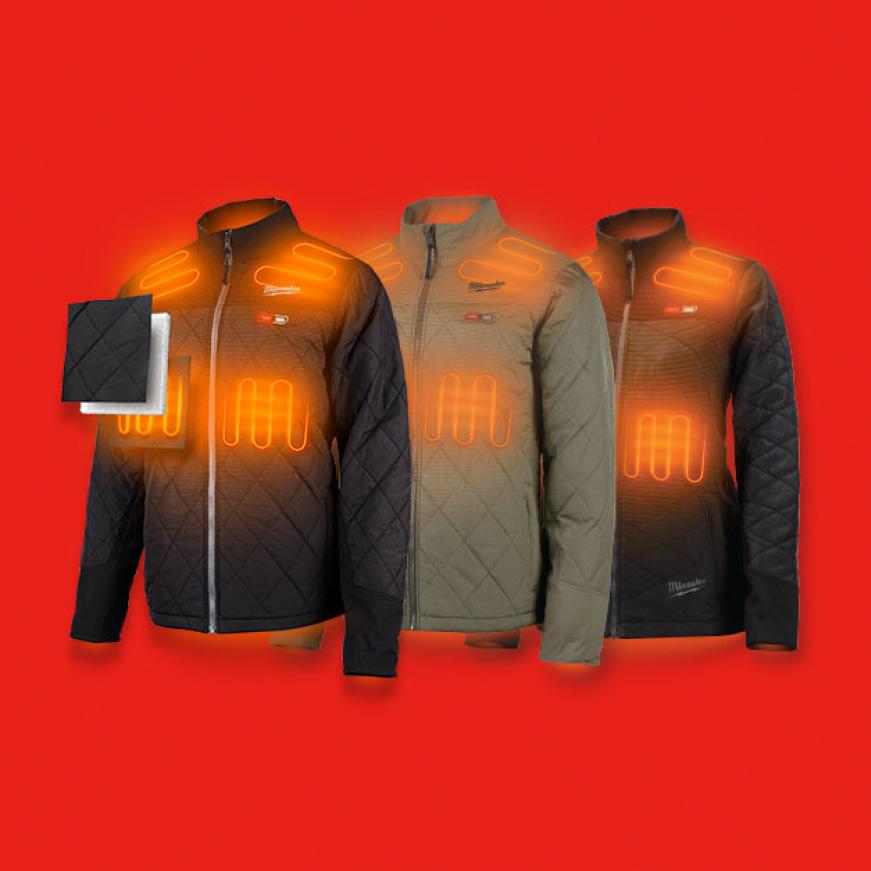 Black Milwaukee Electric Tools M12 Heated Axis Jacket Kit L
