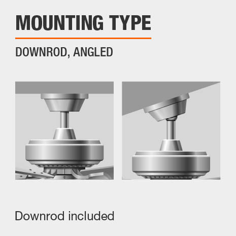 Angle Mount Ceiling Fan With Downrod