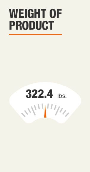 Weight of Product 322.4 pounds