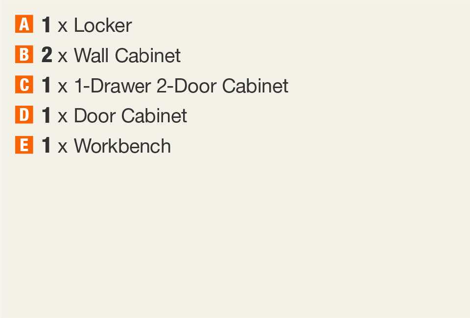 Husky 108 In W X 98 In H X 24 In D Steel Garage Cabinet Set In Black 6 Piece G10808st1 Us The Home Depot
