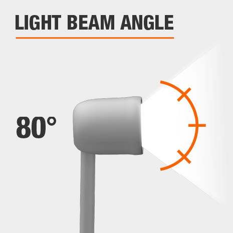 This light has a beam angle of 80.