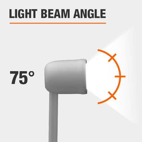 This light has a beam angle of 75.