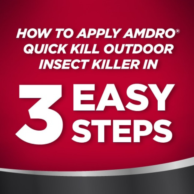 How to apply Amdro Quick Kill Outdoor Insect Killer in 3 easy steps