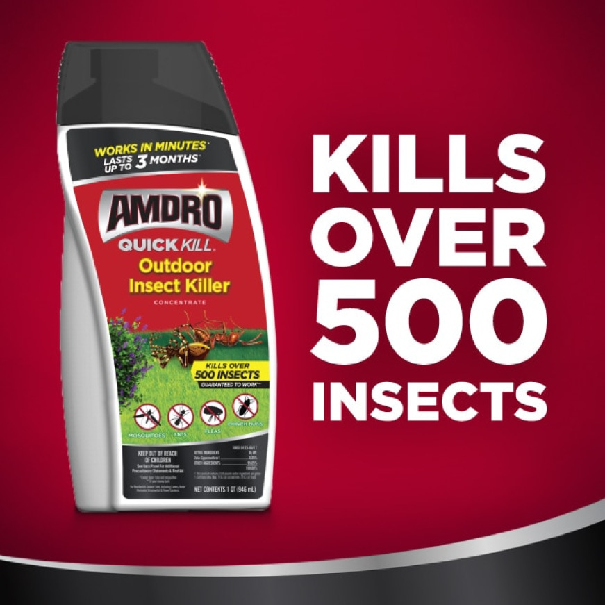 Kills over 500 insects
