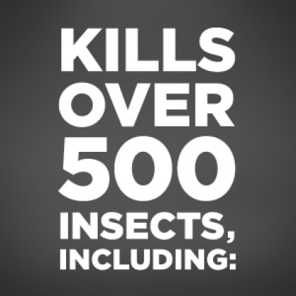 Kills over 500 insects including