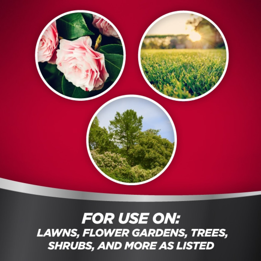 For use on lawns, flower gardens, trees, shrubs and more as listed