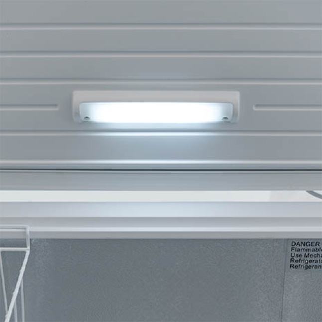 Bright interior light lets you see everything