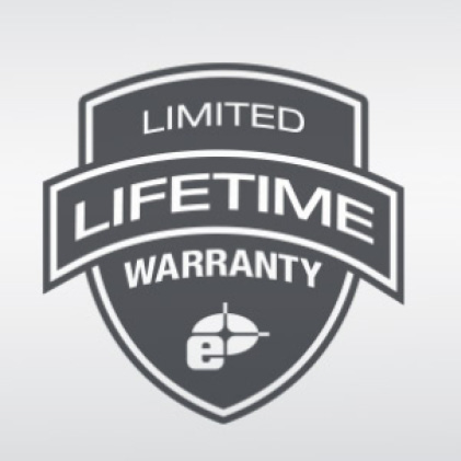 Limited lifetime warranty on frame and vials