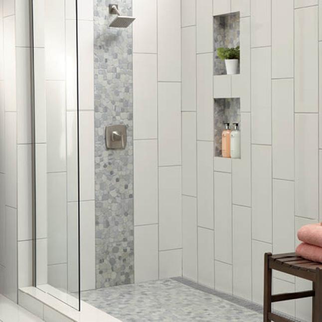 Daltile Restore Bright White 4 In X 16 In Ceramic Wall