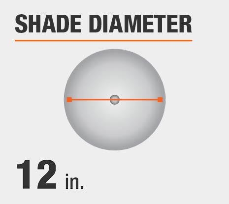 Shade Diameter: 12.00 in.