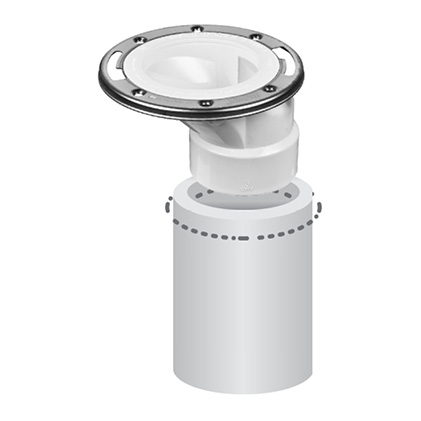 Flange fitting pipe offset