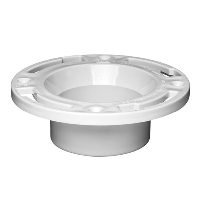 PVC open toilet flange