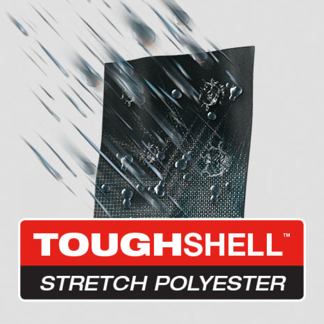 TOUGHSHELL Ripstop Polyester is built strong to last long with 5x longer life