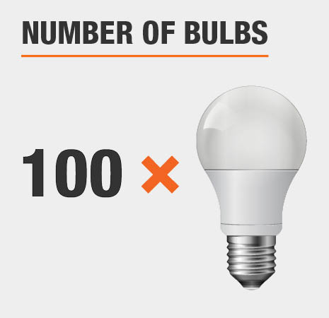 This light has 100 bulbs.